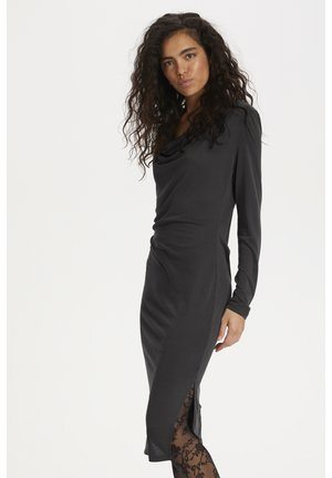 SLCODY WATERFALL  - Jersey dress - black