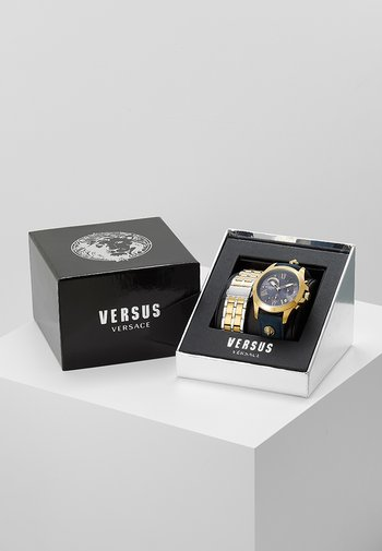 LION - Chronograph watch - gold-coloured/blue