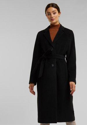 MIT KASCHMIR - Halflange jas - black