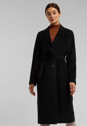 MIT KASCHMIR - Short coat - black