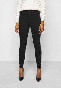 Frame Denim - ALI HIGH RISE SKINNY - Jeans Skinny - noir - 0