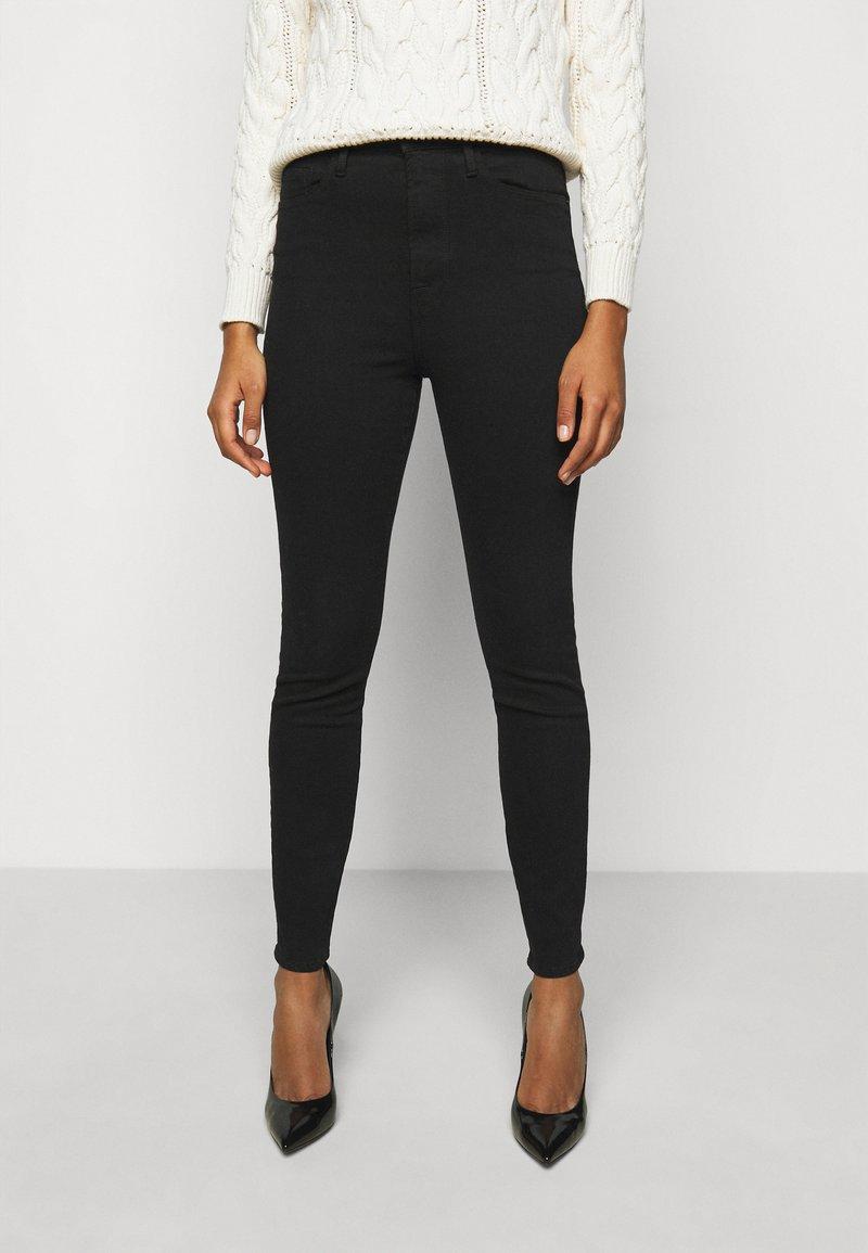 Frame Denim - ALI HIGH RISE SKINNY - Jeans Skinny - noir