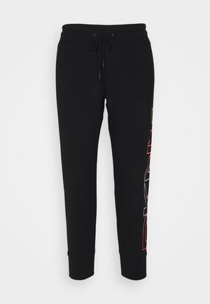 OMBRE LOGO CROPPED  - Tracksuit bottoms - black