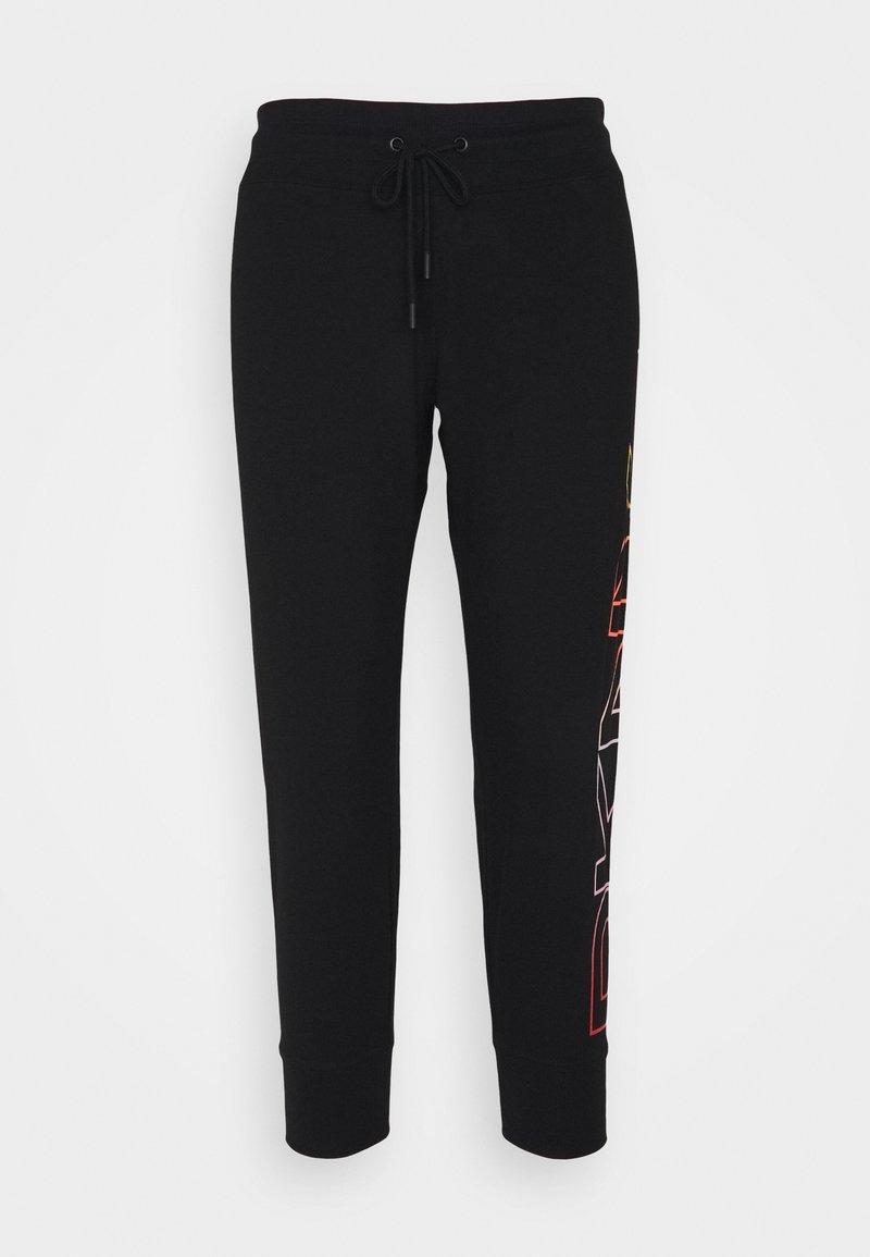 DKNY - OMBRE LOGO CROPPED  - Tracksuit bottoms - black