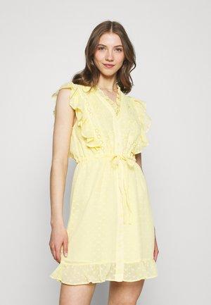 EMBROIDERY MINI DRESS - Kjole - yellow