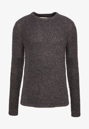 TEXTURED CREW - Stickad tröja - black