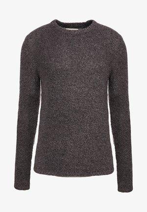 TEXTURED CREW - Pullover - black