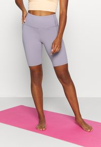 Under Armour - MERIDIAN BIKE SHORTS - Leggings - slate purple - 0