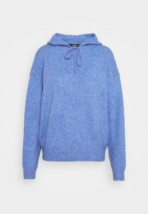 TIE DETAIL HOODIE - Jumper - blue