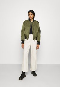 Diesel - W-SWING JACKET - Bomber Jacket - military green - 1
