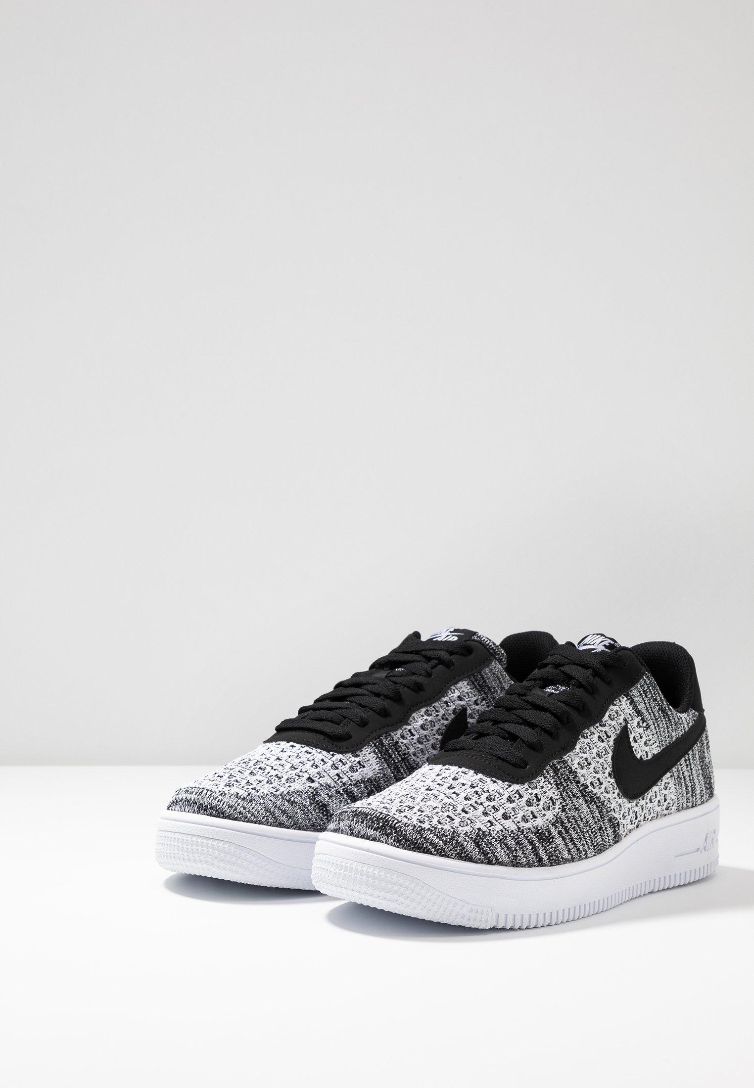 Nike Sportswear AIR FORCE 1 FLYKNIT 2.0 - Sneakers basse - black ...