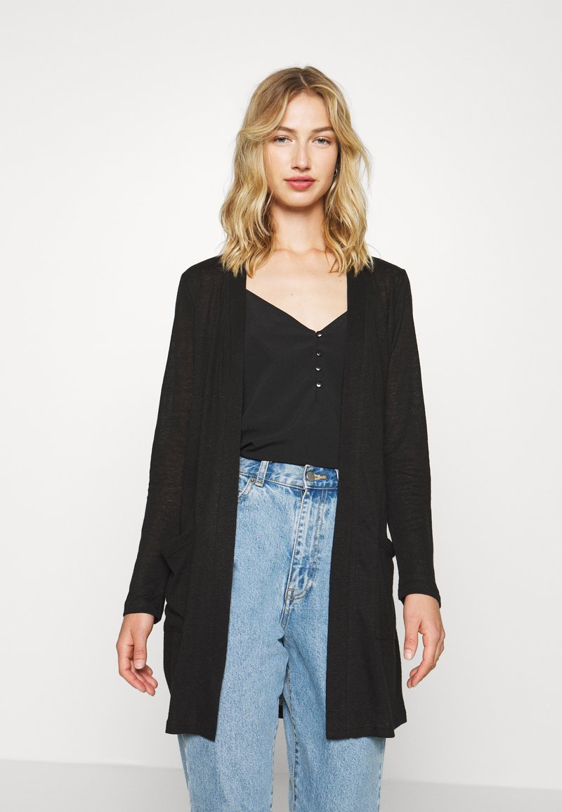 Pieces - PCMISSY MIDI CARDIGAN - Cardigan - black
