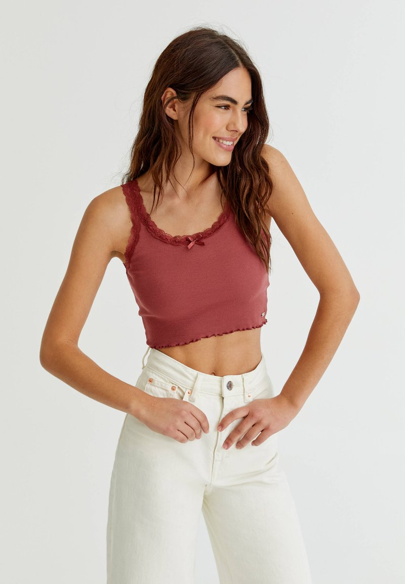 PULL&BEAR - Top - red