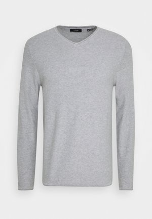 JPRBLAMAXIMUS VNECK - Jumper - cool grey melange