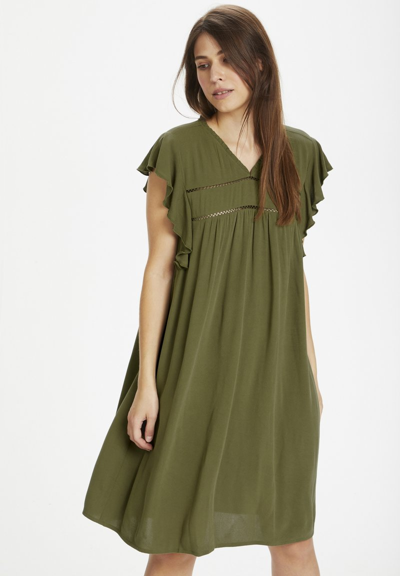 Culture - Day dress - burnt olive