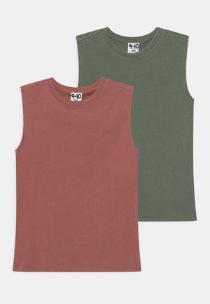 2 PACK - Toppi - swag green/chutney garment