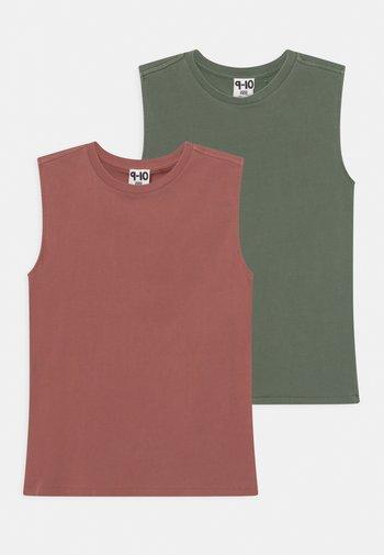 2 PACK - Top - swag green/chutney garment