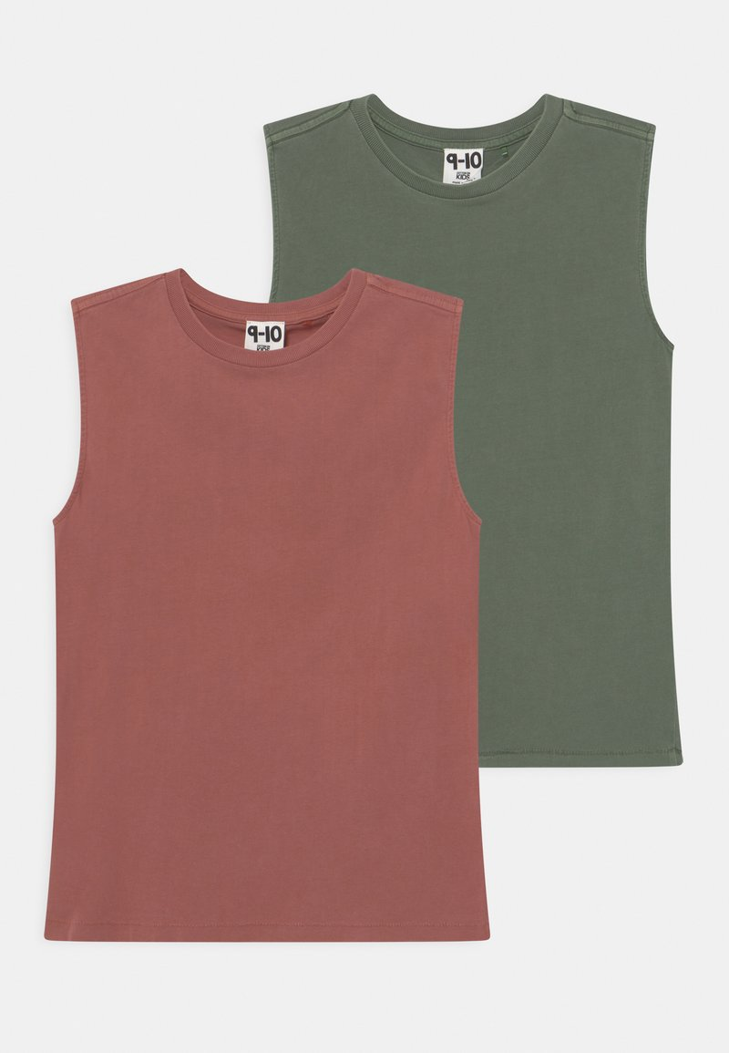 Cotton On - 2 PACK - Top - swag green/chutney garment