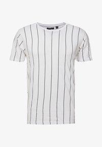 Brave Soul - STOBART - T-shirts med print - optic white/rich navy - 3