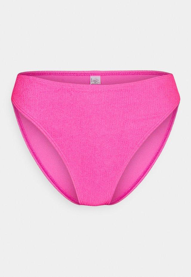 TEXTURED SCRUNCH FABRIC BRIEF - Bikiniunderdel - pink