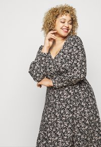 ONLY Carmakoma - CARCAN CALF DRESS  - Day dress - black/cement - 3