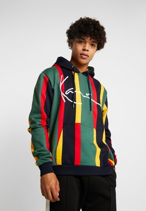 SIGNATURE HOODIE - Mikina s kapucí - green/red/yellow/navy