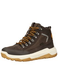 Superfit - Lace-up ankle boots - braun/gelb - 2