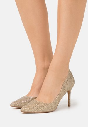 DELE SHIMMER COURT - Højhælede pumps - gold