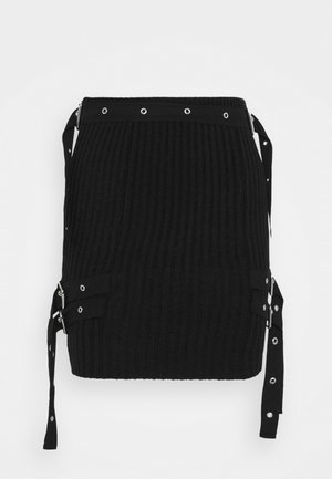 SKIRT BUCKLE STRAP DETAIL - Minisukně - black