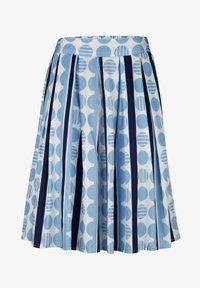 Alba Moda - ROCK - Pleated skirt - blue/white - 2