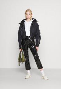 Weekday - REEVES JACKET - Light jacket - black solid - 1