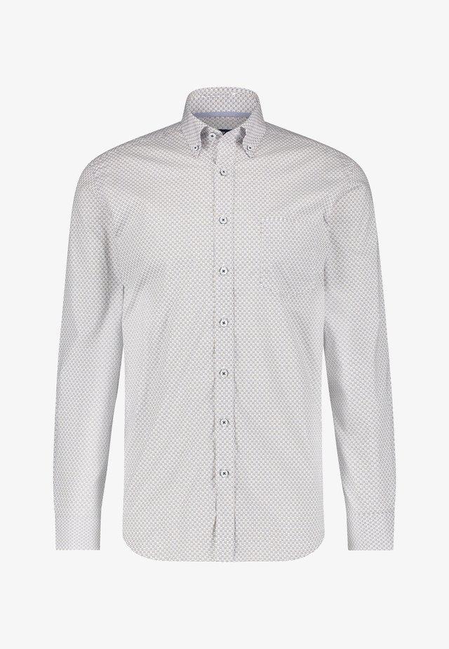 Overhemd - cobalt/beige