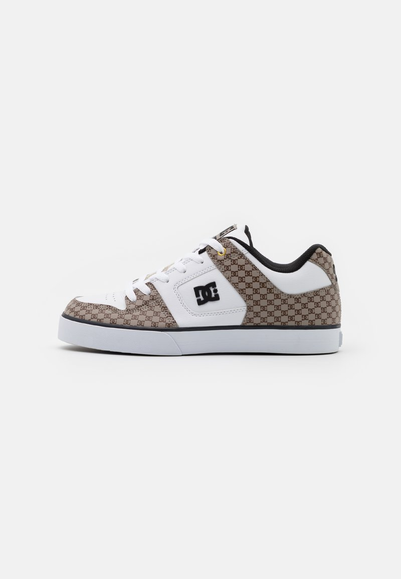 DC Shoes - PURE  - Obuwie deskorolkowe - black/white/brown