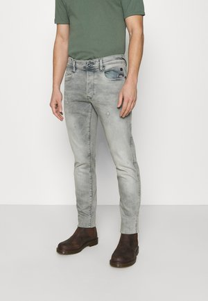 G-BLEID SLIM - Jeans slim fit - destroyed denim