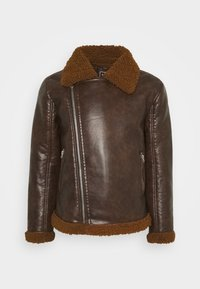 PITTSBURGH - Faux leather jacket - brown