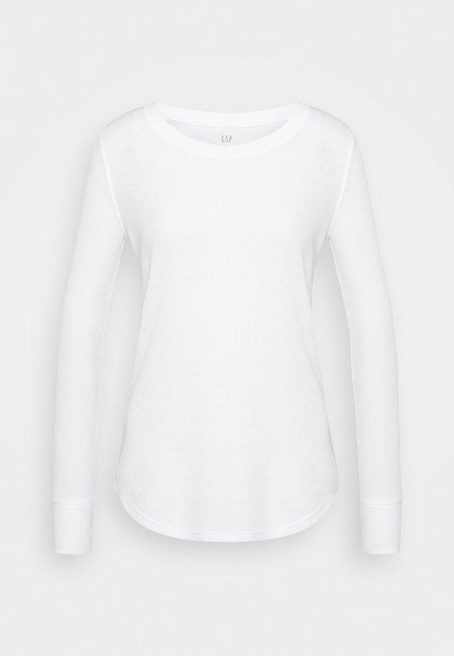 WAFFLE TEE - Langarmshirt - white