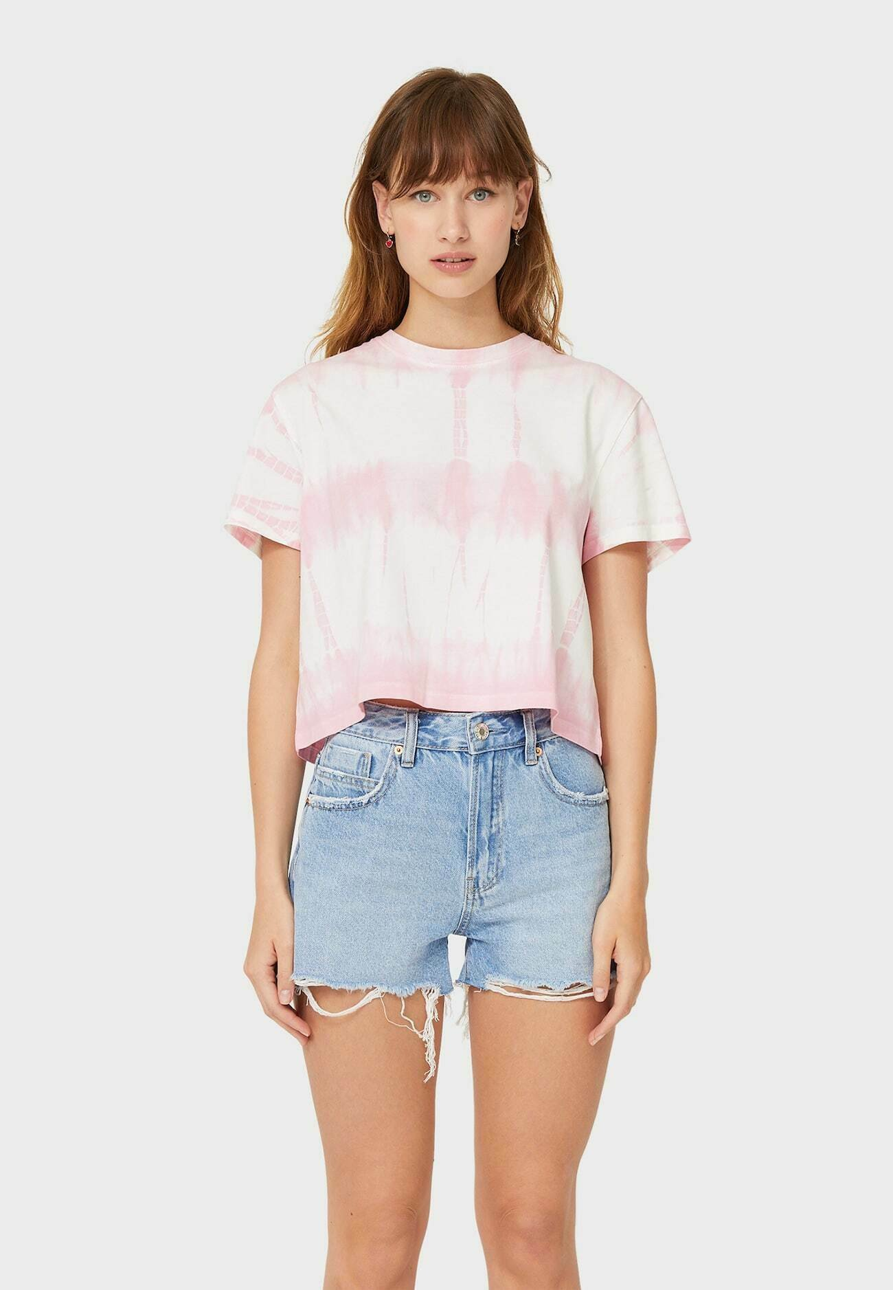 Damen CROPPED MIT TIE-DYE - T-Shirt print