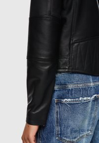 Diesel - Leather jacket - black - 4