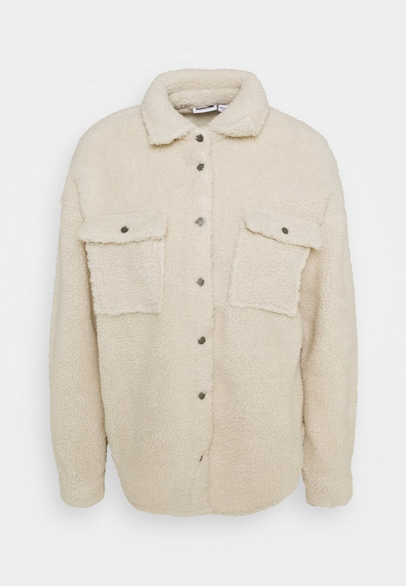 Noisy May Petite - NMSAKIRAN LONG SHACKET - Winter jacket - eggnog