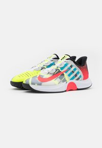 Nike Performance - COURT AIR ZOOM GP TURBO - Multicourt tennis shoes - white/solar red/hot lime/neo turquoise - 1