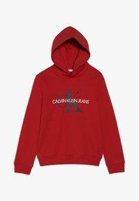 Calvin Klein Jeans - MONOGRAM HOODIE - Hoodie - red - 0