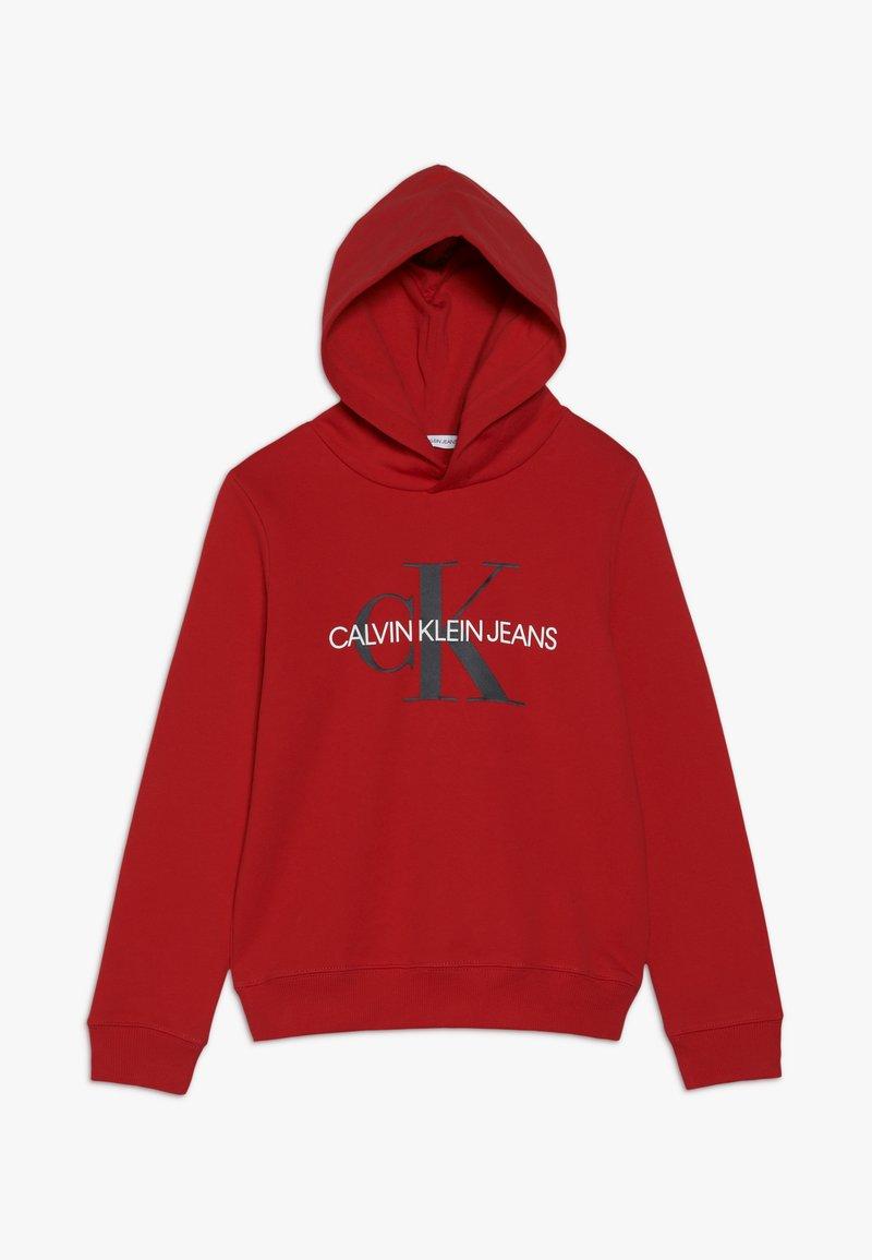 Calvin Klein Jeans - MONOGRAM HOODIE - Hoodie - red