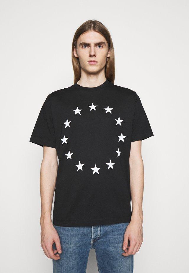 EUROPA - T-shirts print - black