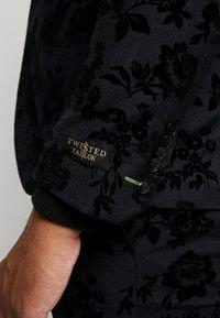 Twisted Tailor - KATRIN FLORAL FLOCK SUITPLUS - Suit - charcoal - 6