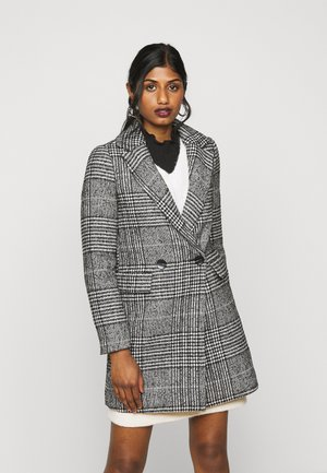 ONLNEWSELENA LIFE CHECK COAT - Classic coat - cloud dancer/black