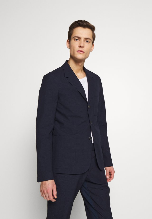 MENS JACKET UNLINED - Veste de costume - navy