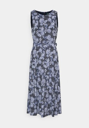 PRINTED MATTE DRESS - Jersey dress - navy/blue/colo