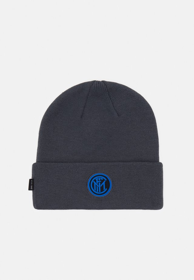 INTER MAILAND DRY BEANIE - Bonnet - dark grey/tour yellow