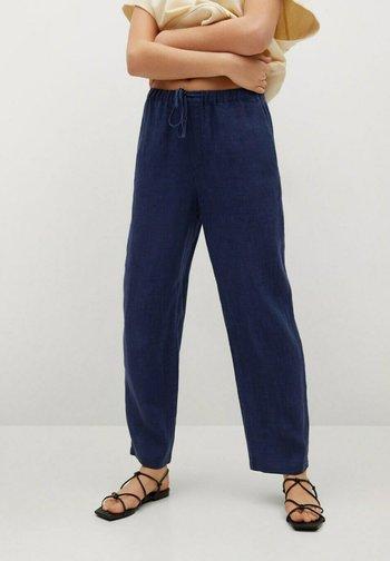 Trousers - námořnická modrá