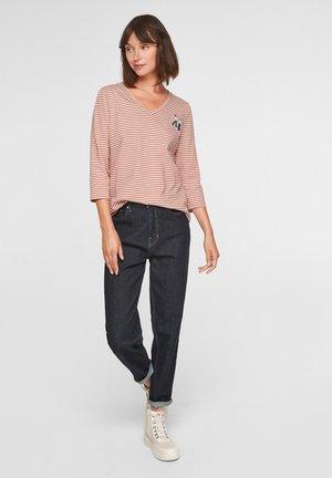 T-shirt à manches longues - dark orange stripes